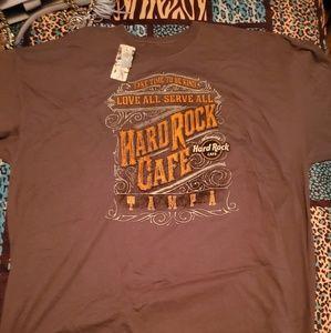 Tops - New gray hardrock t shirt XXXL